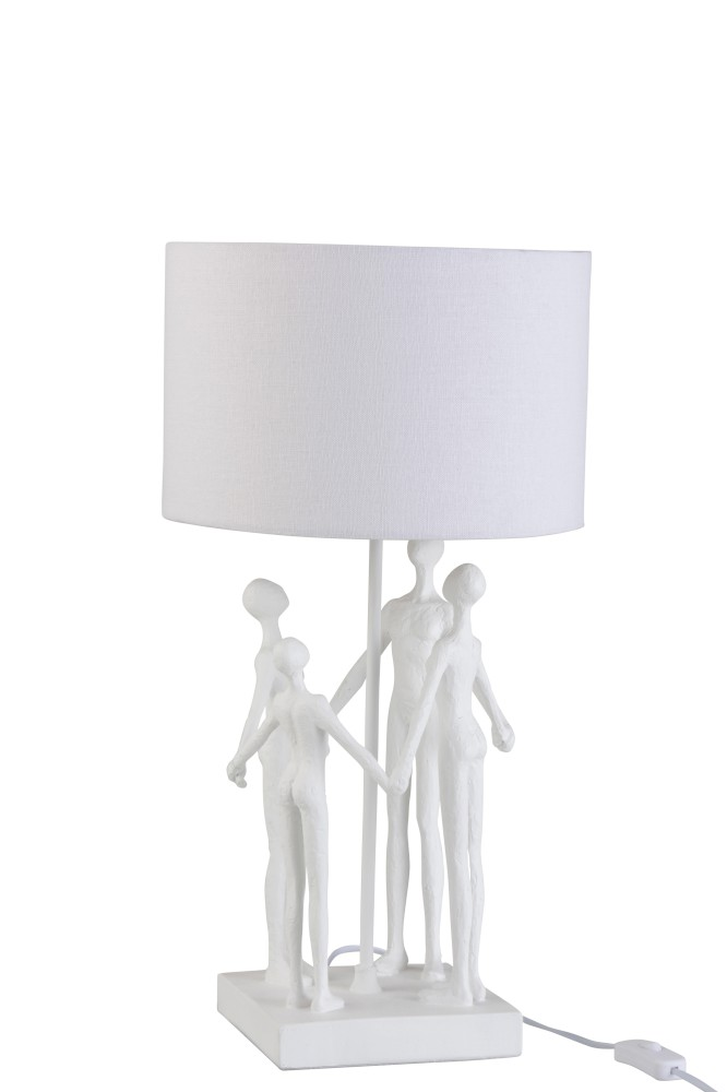 Lamp Figuren Vierdelig Poly Wit  1