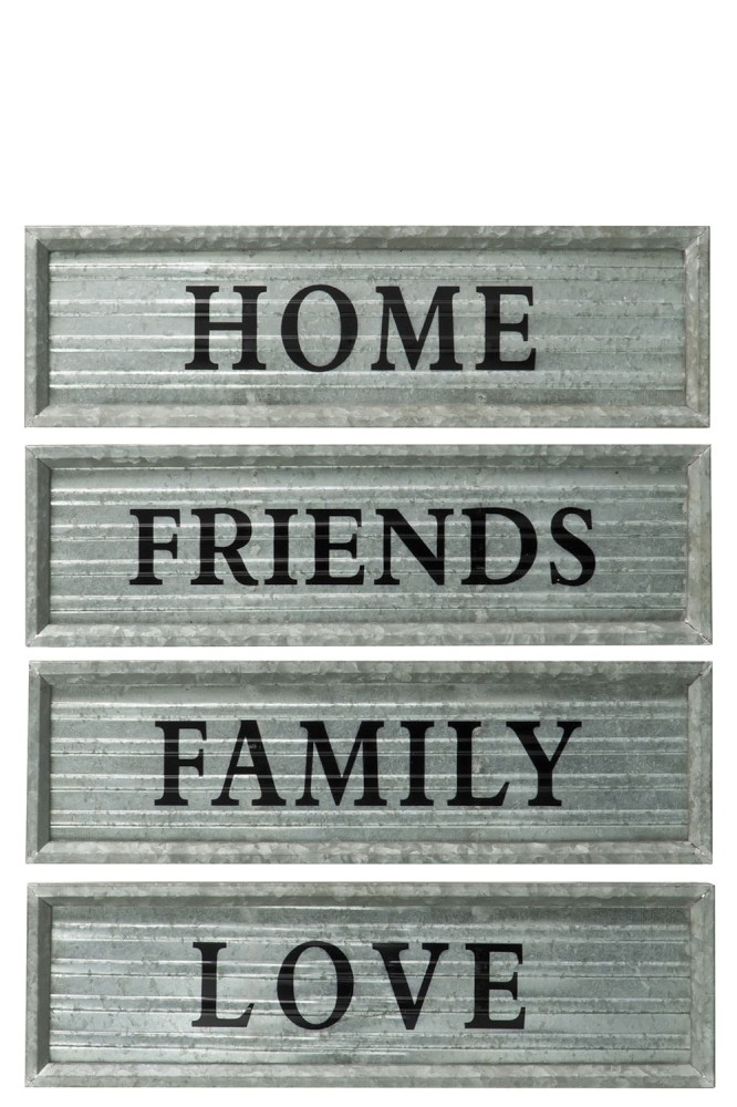 Tekstbord home, friends, family and love 1
