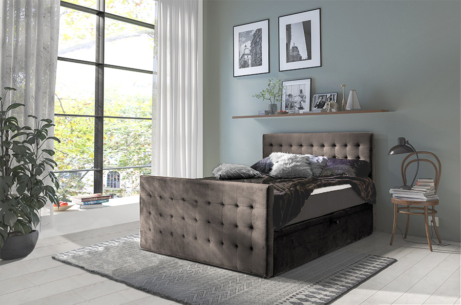 Boxspring Florence - taupe (140/160/180 cm)