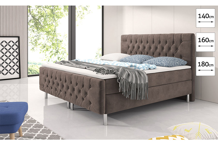 Boxspring taupe Chester  1