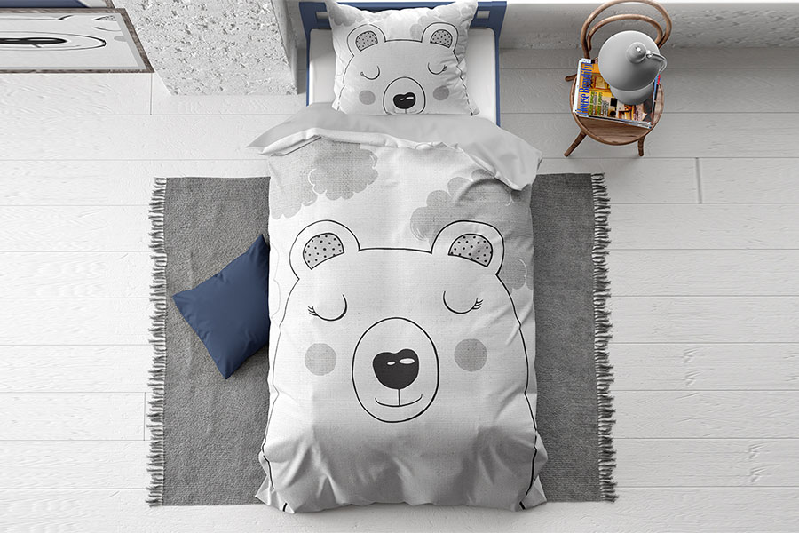 Dekbedovertrek Sweet Bear Grey
