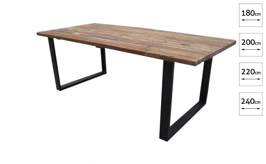 Eettafel gerecycled hout  1