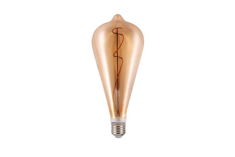 Filament lamp LED 9 - E27 - Amber - 4W 1