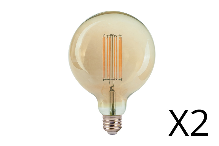 Filament lamp LED 4 - E27 - 6W (per 2)  1