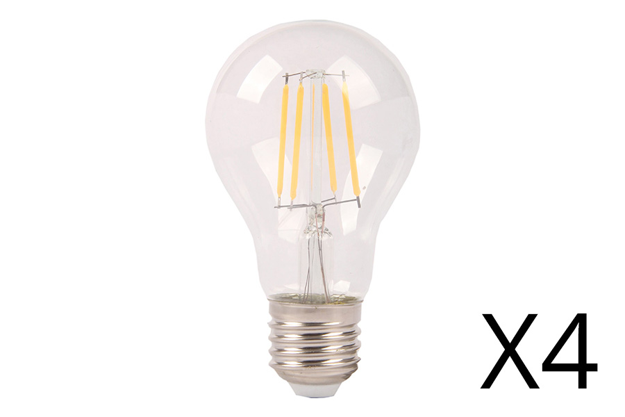 Filament lamp LED 1 - E27 - 8W (per 4) 1