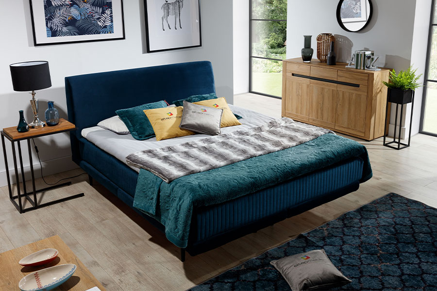 Stoffen bed Asteria (140/160/180 cm) 2
