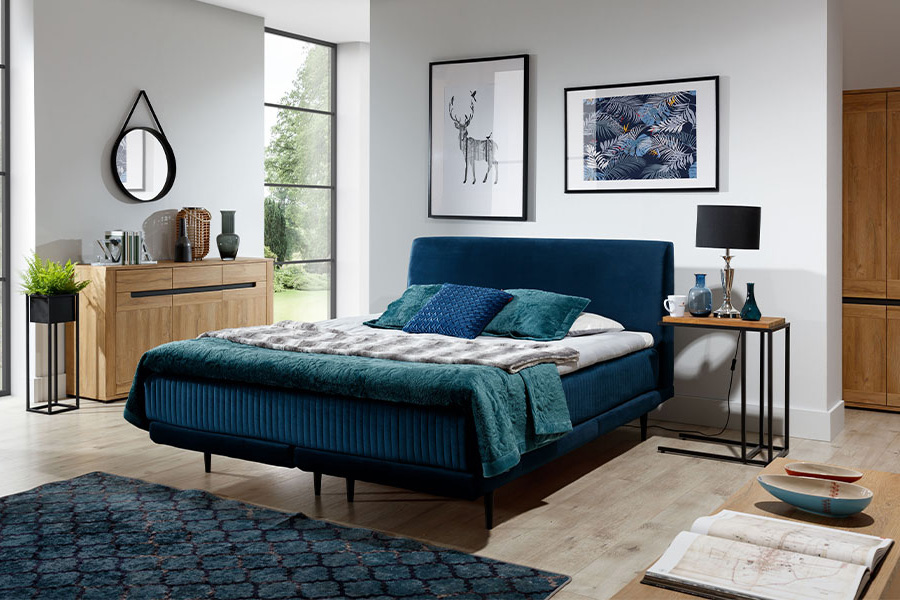 Stoffen bed Asteria (140/160/180 cm) 1